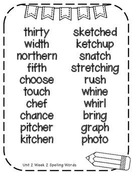 Reading Wonders Extra Spelling Practice 4th Grade Unit 2 Week 2