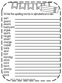 Reading Wonders Extra Spelling Practice 4th Grade Unit 2 Week 4