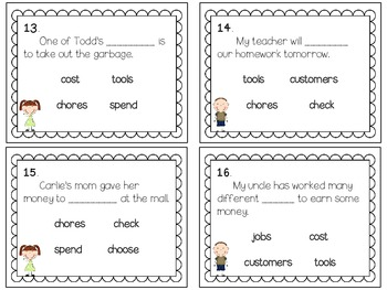 Reading Wonders ~ Families Working Together story activities (Unit 1, Week 5)