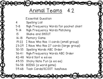 Reading Wonders First Grade Animal Teams 4.2 {10 Literacy Activities}