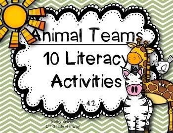 Reading Wonders First Grade Animal Teams 4.2 {10 Literacy