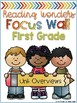 First Grade Focus Wall Binder Covers (for Reading Wonders)