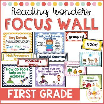 Reading Wonders First Grade Focus Wall {Bundle}