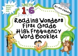 Reading Wonders First Grade High Frequency Word Booklet -