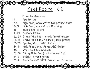 Reading Wonders First Grade Meet Rosina 6.2. {10 Literacy Activities}