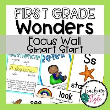 First Grade Wonders Smart Start Focus Wall