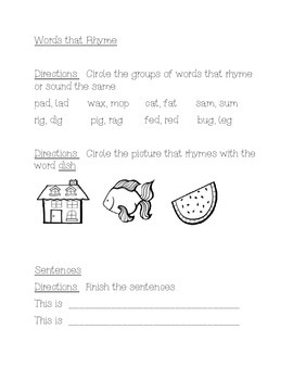 Smart Start, Reading Wonders First Grade Week 2