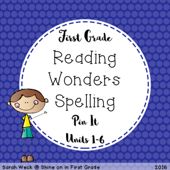 Reading Wonders First Grade Spelling Packet, Pin It