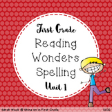Reading Wonders First Grade Spelling Packet, Unit 1