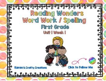 Reading Wonders  First Grade Spelling Unit 1 Week 1 Center Activities