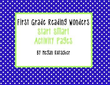 Reading Wonders First Grade Start Smart Activities