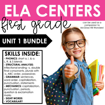 Reading Wonders First Grade Unit 1 BUNDLE