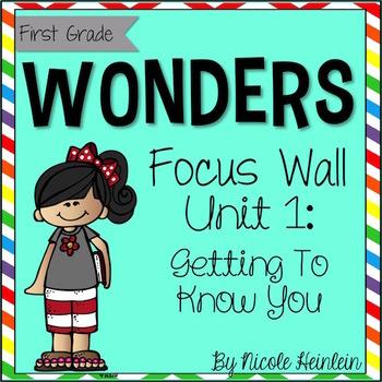 Reading Wonders First Grade Unit 1 Focus Wall