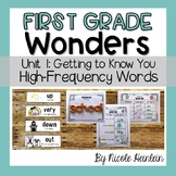 First Grade Wonders Unit 1 High-Frequency Word Activities