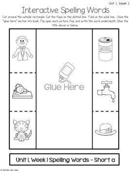 Reading Wonders First Grade Unit 1 Interactive Journal Activities