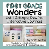 Reading Wonders First Grade Unit 1 Interactive Journal Activities