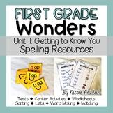 First Grade Wonders Unit 1 Spelling Activities