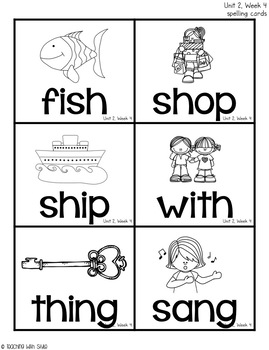 First Grade Wonders Unit 2 Spelling Activities