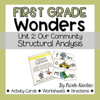 First Grade Wonders Unit 2 Structural Analysis Activities