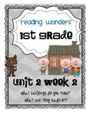 Reading Wonders First Grade- Unit 2 Week 2