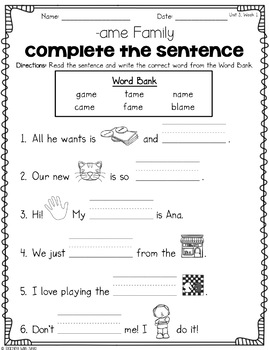 Reading Wonders First Grade Unit 3 Spelling Activities