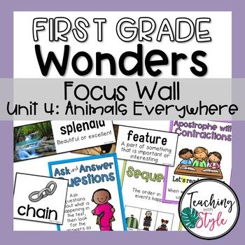Reading Wonders First Grade Unit 4 Focus Wall