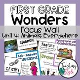 First Grade Wonders Unit 4 Focus Wall