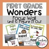 Reading Wonders First Grade Unit 5 Focus Wall