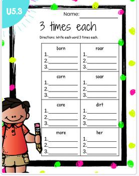 Reading Wonders First Grade Unit 5 Word Work BUNDLE!!!