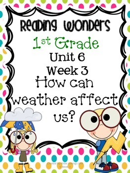 Reading Wonders First Grade- Unit 6 Week 3