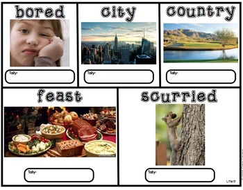 Vocabulary Words-Reading Wonders-Units 1-6 First Grade