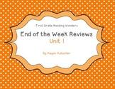 Reading Wonders First Grade Week End Reviews Unit 1