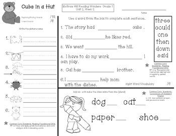 Reading Wonders First Grade Week End Reviews Unit 2