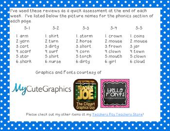 Reading Wonders First Grade Week End Reviews Unit 5