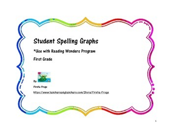 Reading Wonders First Grade Weekly Spelling Graphs