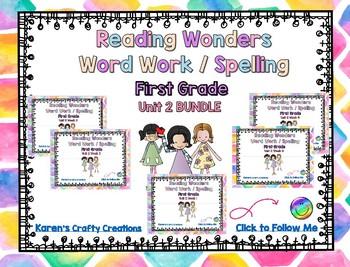 Reading Wonders First Grade Word Work / Spelling Unit 2 BUNDLE Center Activities
