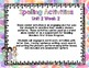 Reading Wonders First Grade Word Work / Spelling Unit 2 Week 2 Center Activities
