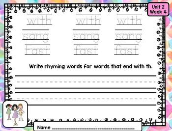 Reading Wonders First Grade Word Work / Spelling Unit 2 Week 4 Center Activities