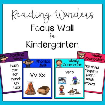 Kindergarten Reading Wonders Focus Wall