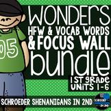 Reading Focus Wall, Grade 1 BUNDLE Units 1-6