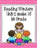 Reading Wonders Focus Wall Grade 1 - Unit 2 Weeks 1-5
