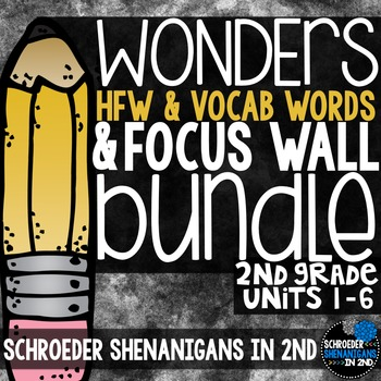 Focus Wall AND WORD CARDS, Gr. 2 BUNDLE Units 1-6