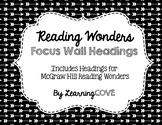 Reading Wonders Focus Wall Headings - Black and White ARROWS