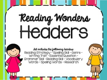 Reading Wonders Focus Wall Headings - Bright & Bold!