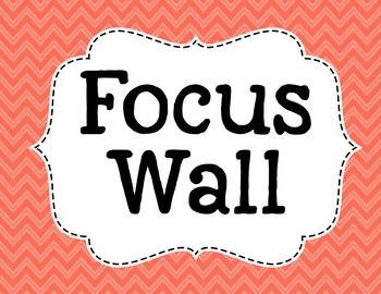 Reading Wonders Focus Wall Headings - Coral