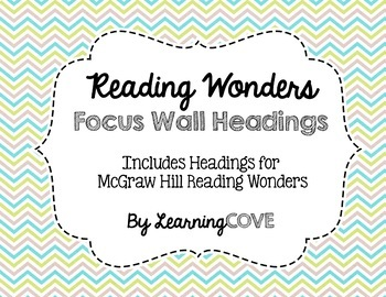 Reading Wonders Focus Wall Headings - Earth Colors