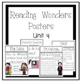 Reading Wonders Focus Wall Posters Grade 4 Unit 4