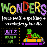 Reading Wonders Focus Wall and Word Cards: Grade 3 Unit 2