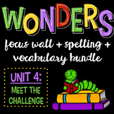 Reading Wonders Focus Wall and Word Cards: Grade 3 Unit 4