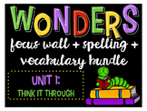 Reading Wonders Focus Wall and Word Cards: Grade 4 Unit 1
